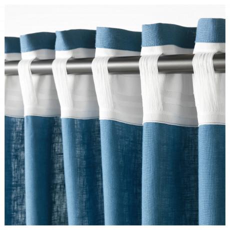 Гардины, 1 пара АЙНА синий фото 1